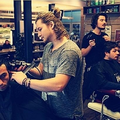 barbers Ambroos en Quinten @ work